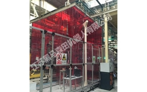 Protective screen for welding position
